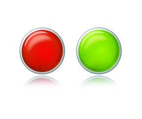 Roter und Grüner Button