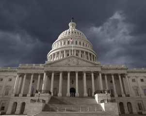 Dark Sky over the United States Capitol