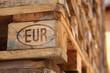 Leinwandbild Motiv Euro-Palette