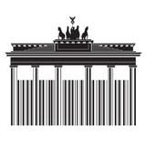 Berlin in Bar Code Style