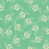 Seamless stylized leaf pattern background