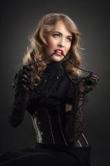 vintage style sensual portrait