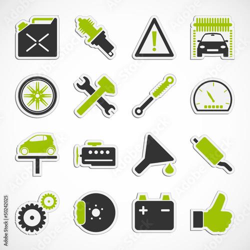 Auto - Werkstatt - Sticker (III)