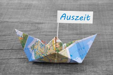 Auszeit - Konzept Urlaub mit Segelboot