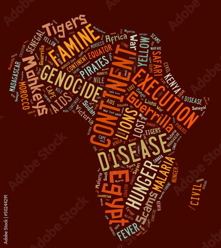 africa tag cloud illustration - concepts