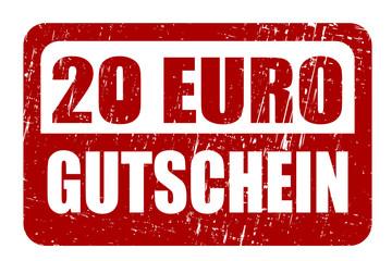 20 EURO GUTSCHEIN, Vektor Stempel