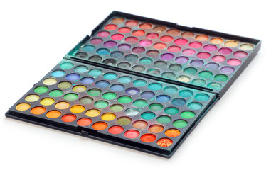 Makeup colorful eyeshadow palettes.