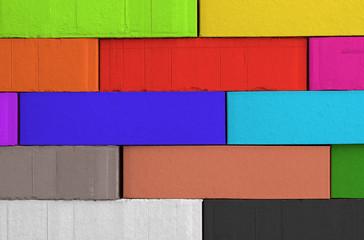 bunte Ziegelsteinmauer - Hintergrund