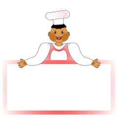 cook with copy space, illustration