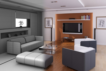 modern livingroom final wireframe