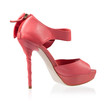 Fashionable shoes pink high heels