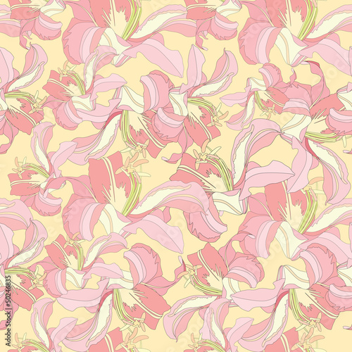 floral seamless pattern. gentle flowers background