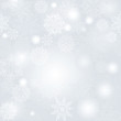 Snowflakes seamless pattern, snow background.