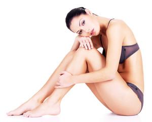 Woman with beautiful legs in bikini