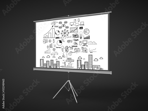 flip chart with business concept