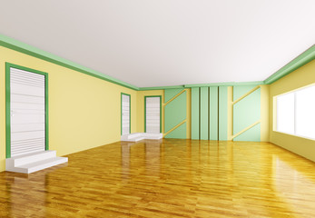 Empty interior 3d