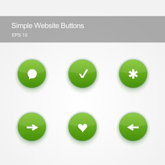 Set of buttons for website or app