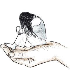 donna in una mano