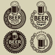Retro Styled Beer Seals / Labels