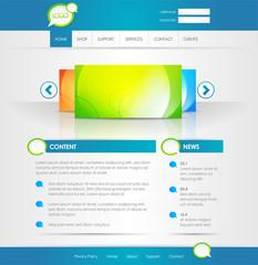 Vorlage Webseite mit Bilder Vorschau und News Bereich