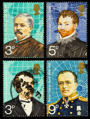 Britain Famous Explorers Postage Stamps