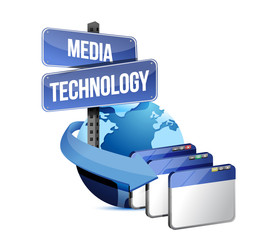 Internet media technology concept