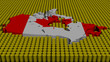 Canada map flag with oil barrels illustration