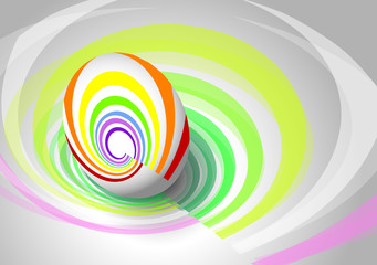 the abstract easter egg with the background
