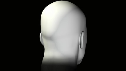 Man portrait rotating head