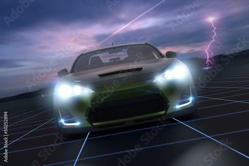 Sportscar on Track 3D