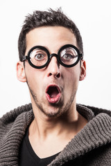 Surprised geek