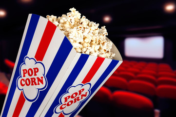 popcorn au cinéma.