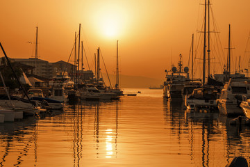 Sunset over Gibraltar Harbour