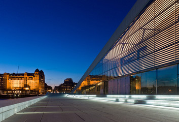 The new Opera building and the old Oslo  havnelager