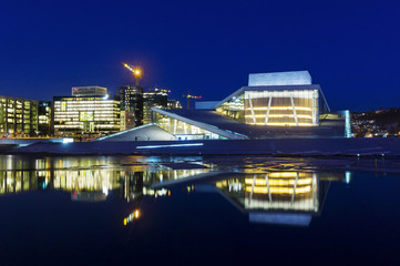 Opera building and new business center in Oslo