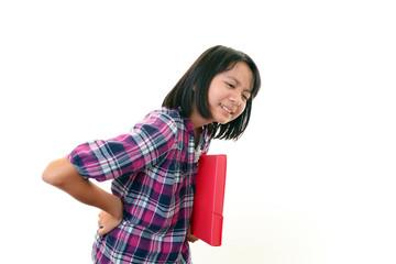 腰痛を訴える女の子