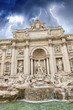 Beautiful portrait view of Trevi Fountain in Rome