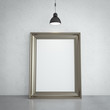 gold frame and lamp