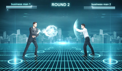 Battle of businessman
