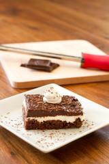 Chocolate Cream Cake - Vertical