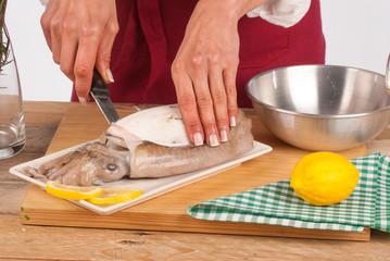 Skinning a cuttlefish
