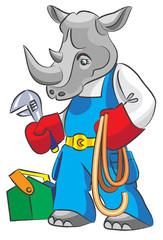 Rhinoceros is the plumber
