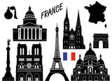 France 10 piece isolated