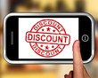 Discount On Smartphone Shows Promotional Products