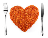 Healthy Food Concept - Lentil Heart