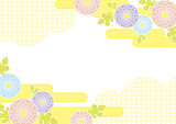 Chrysanthemum - a traditional Japanese pattern background