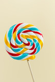 Single colourful lollipop, close up
