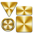 golden metal plate set (isolated with clipping path)