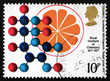 Postage stamp GB 1969 Vitamin C Synthesis