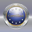 Qualitaetssiegel blau Certified